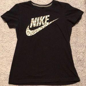 Nike | Leopard Print Logo Tee 🐆